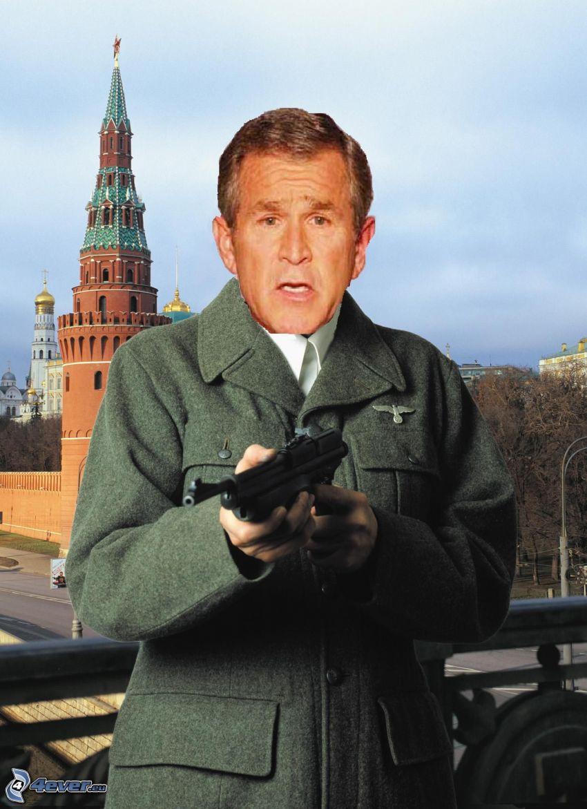 George Bush, Kreml, Moskau, Waffe, Brücke