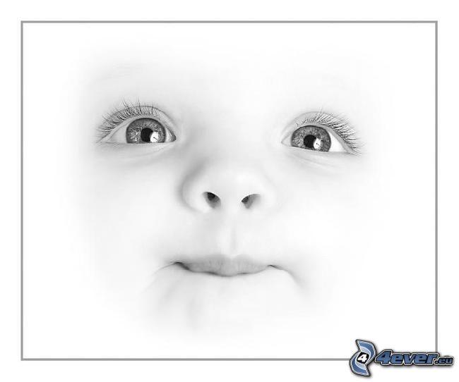 Gesicht des Kindes