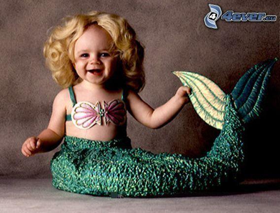 Kind, Meerjungfrau