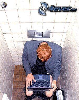 Programmierer, WC, notebook