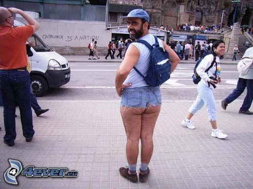 Shorts, Mann, Beine