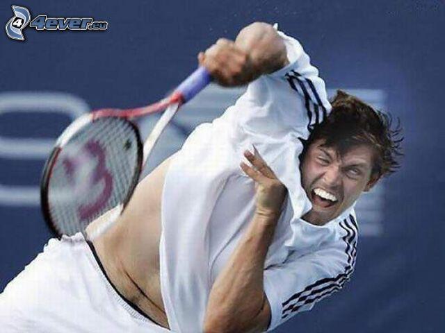 Tennisspieler, Schnappschuss
