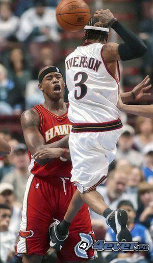 Tritt zwischen die Beine, NBA, Basketball