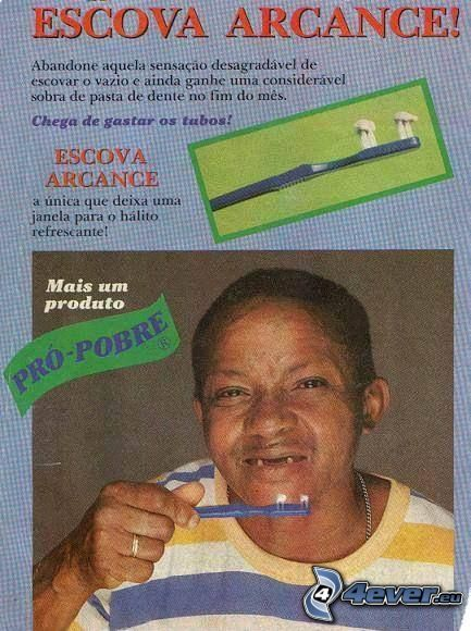 Zahnbürste, schlechte Zähne