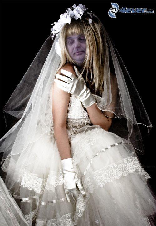 zombie, Braut, Brautkleid