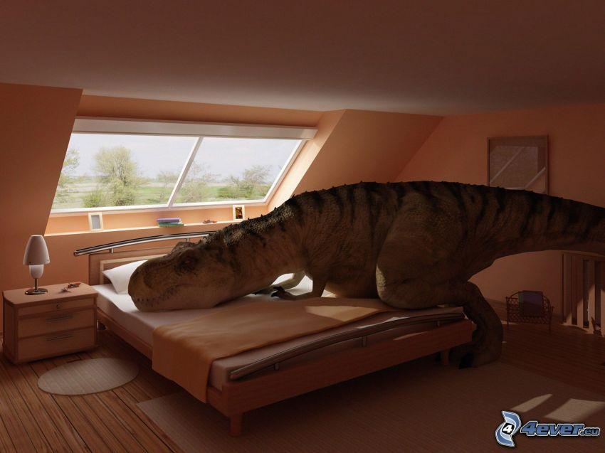 Tyrannosaurus, Dinosaurier, Schlafen, Schlafzimmer
