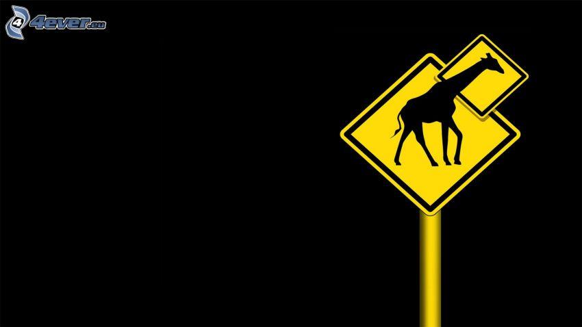 Schild, Giraffe