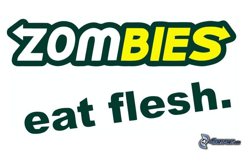 Zombies, logo, subway, Parodie