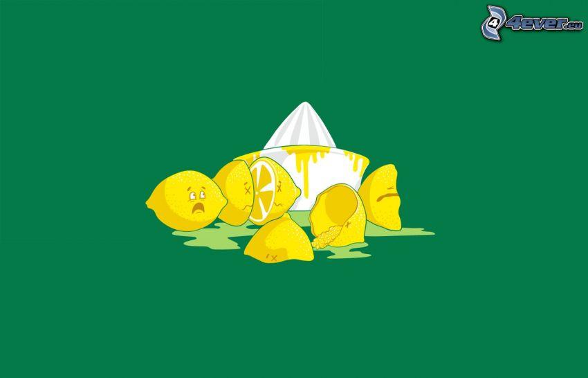 Zitronen, Saftpresse