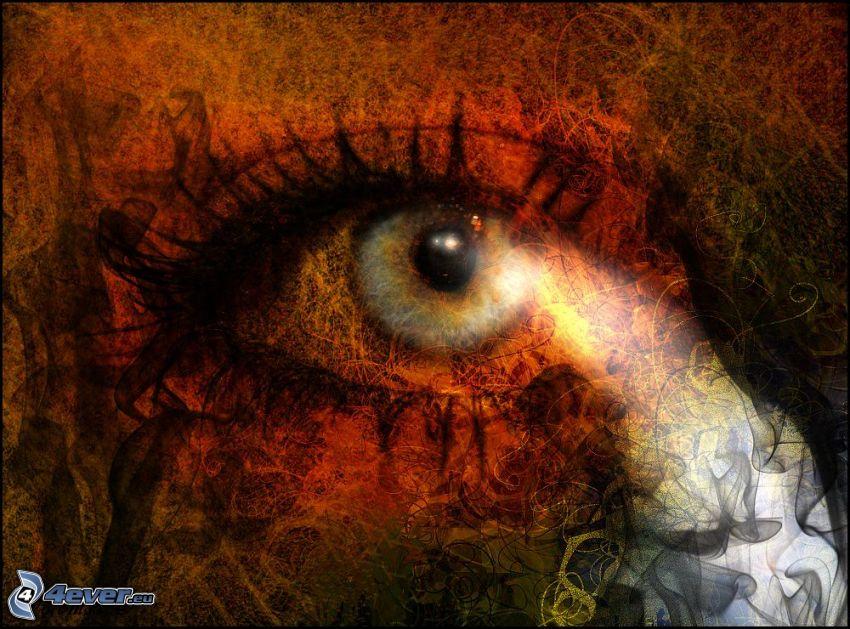 abstraktes Auge