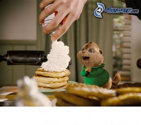 Alvin und die Chipmunks, Pfannkuchen, Schlagsahne