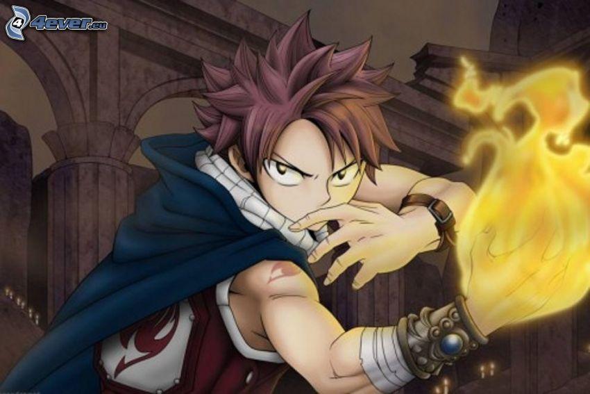 Anime Kerl, Flamme