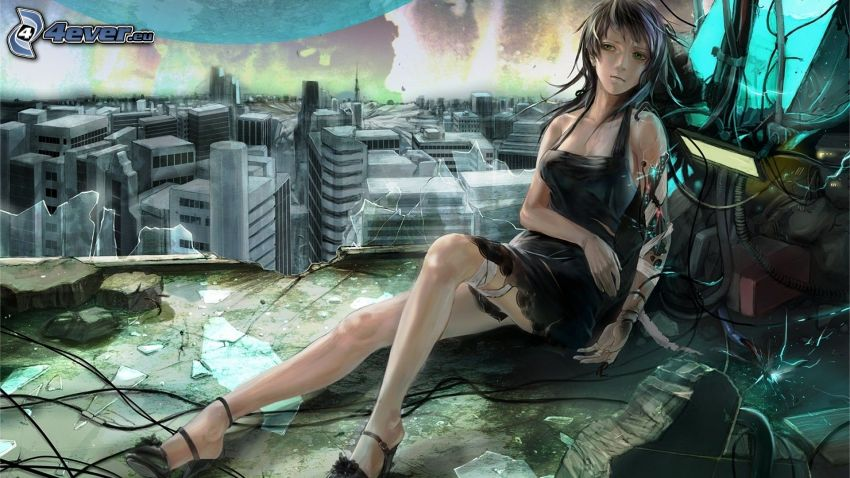 Anime Mädchen, City