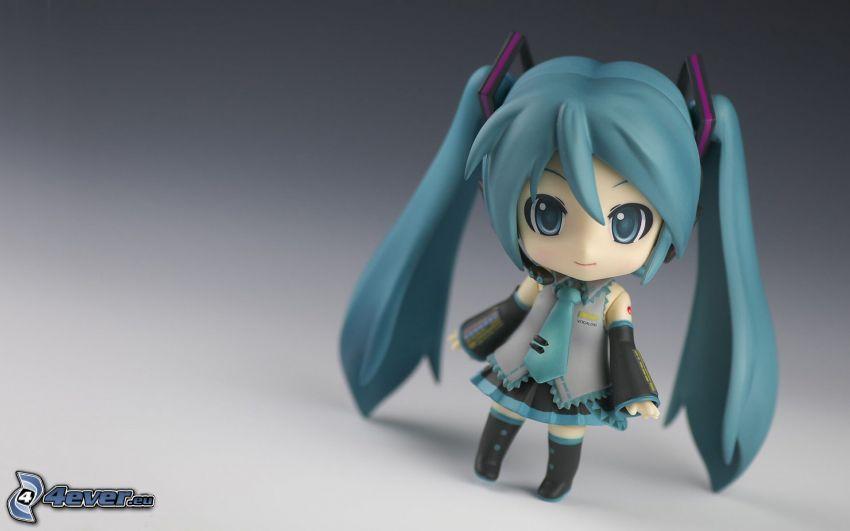 Anime Mädchen, digitale Kunst, Puppe
