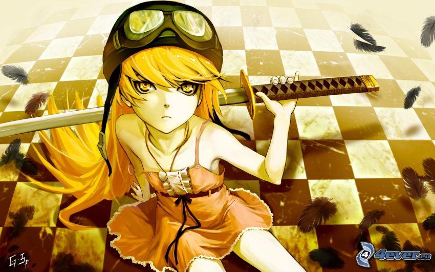 Anime Mädchen, Frau mit dem Schwert