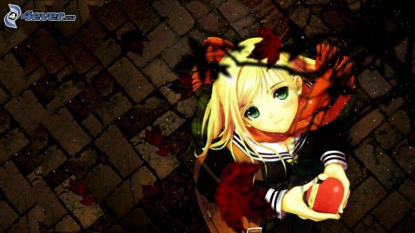 Anime Mädchen, Herz