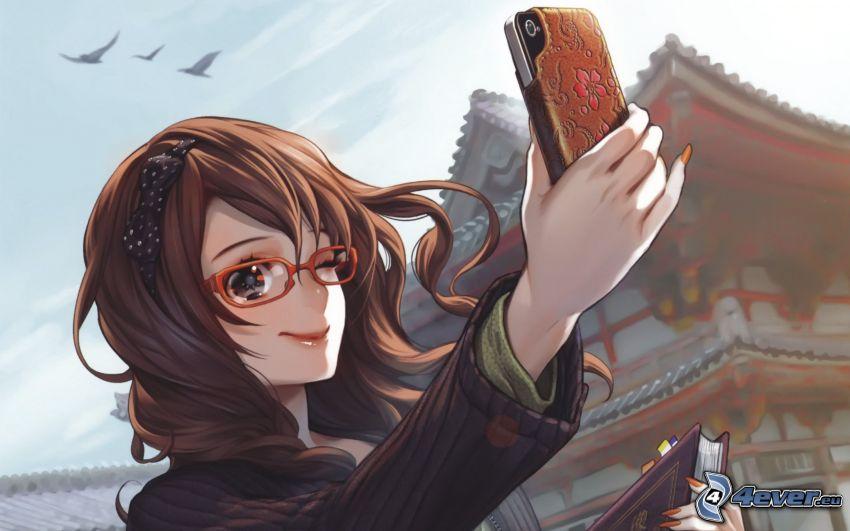 Anime Mädchen, iPhone