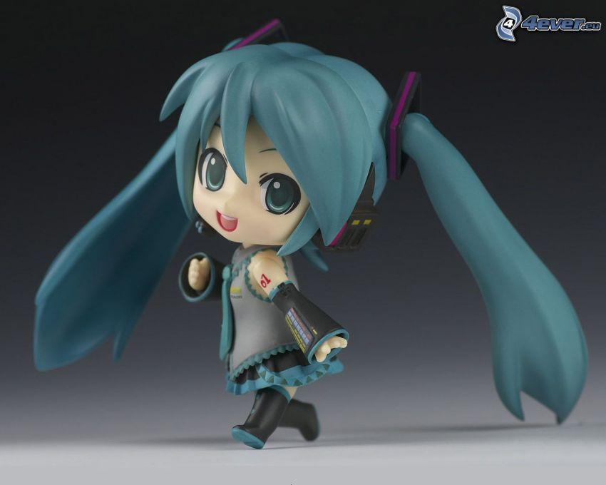 Anime Mädchen, langes Haar