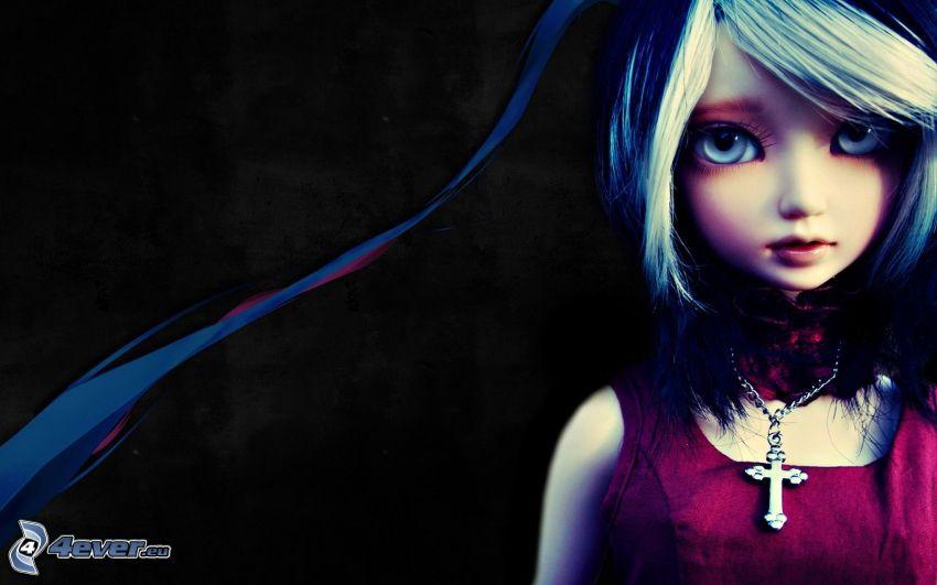 Anime Mädchen, Puppe
