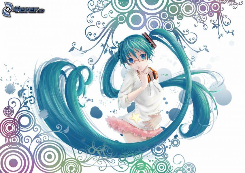 Anime Mädchen, Ringe