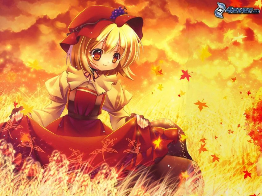 Anime Mädchen, Rotkäppchen