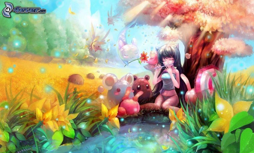 Anime Mädchen, See