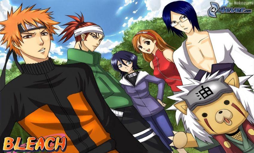 Bleach, Naruto, Crossover