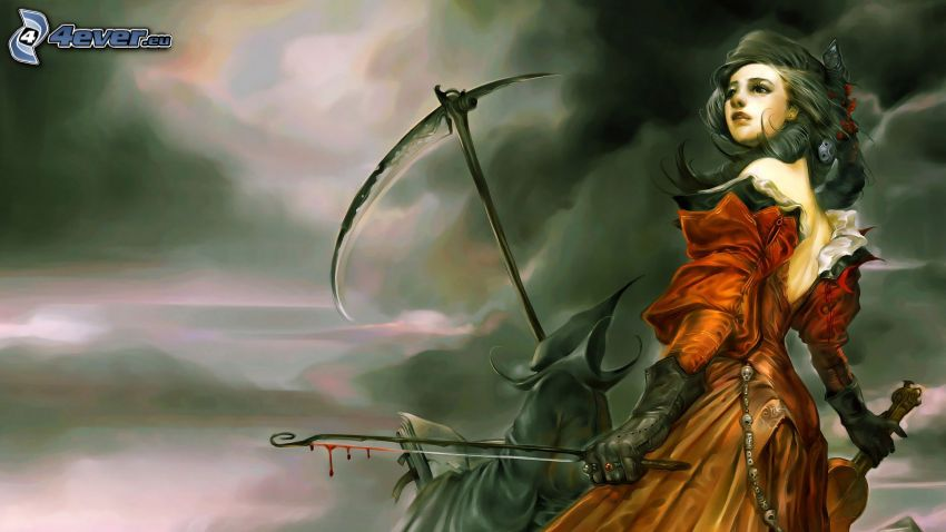 Fantasy Frau, Sensenmann