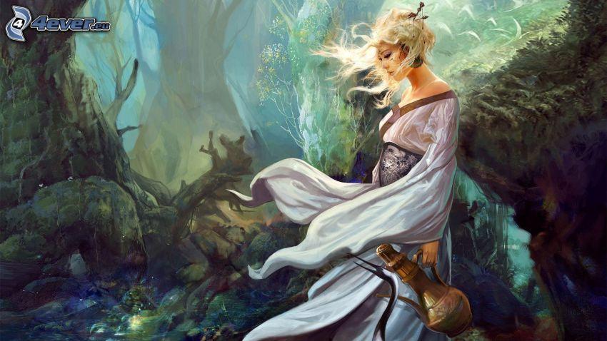 Fantasy Frau, Wald