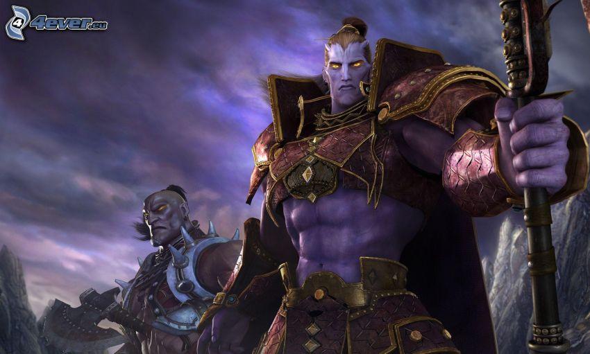 fantasy Krieger, cartoon Charakter