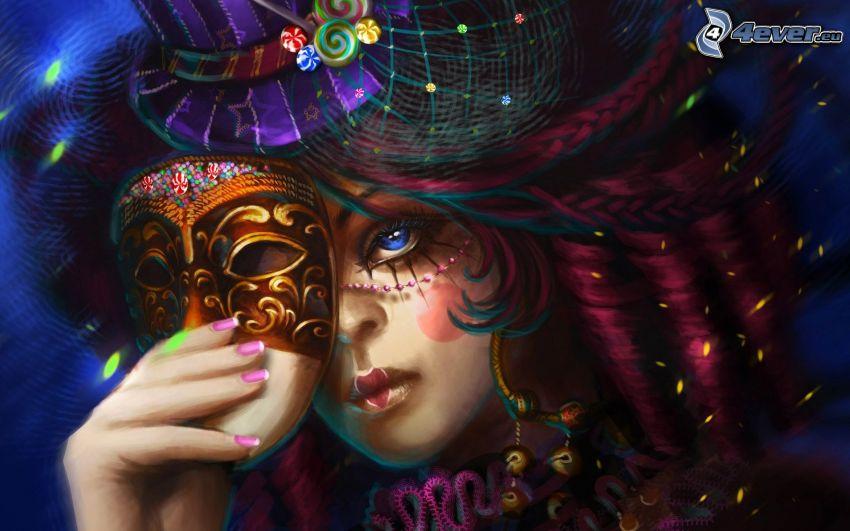 Frau mit der Maske, Fantasy