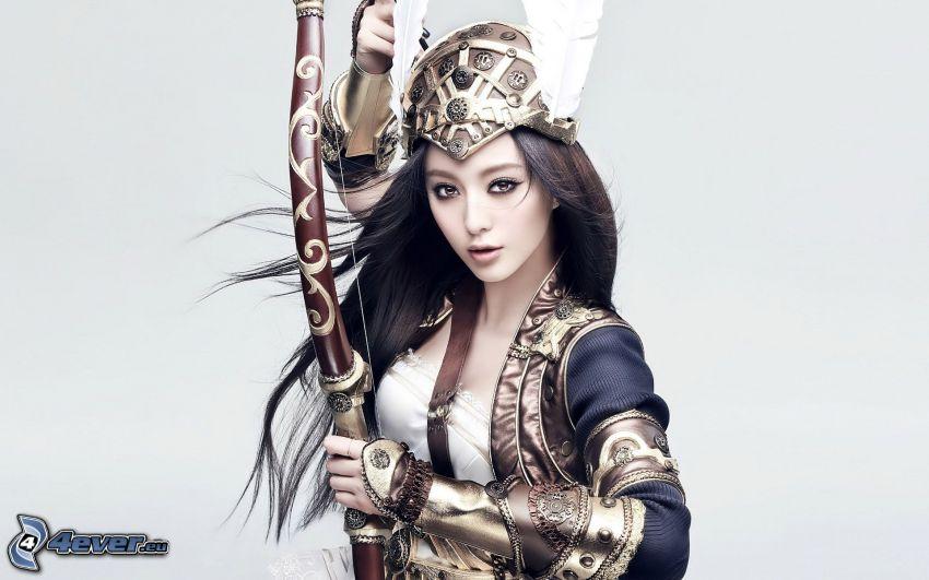 Kämpferin, Bogen, cosplay