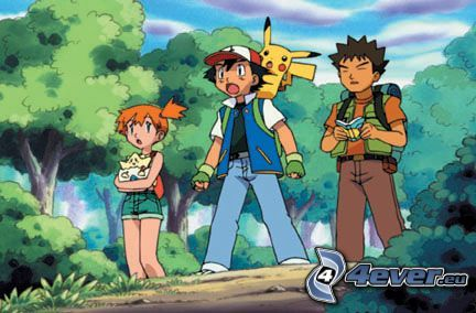 Pokémon, Misty, Ash, Brok, Pikachu, Cartoon, anime