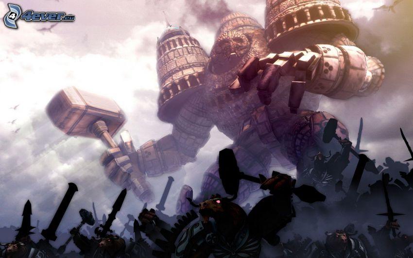 Schlacht, Fantasy, Monstrum