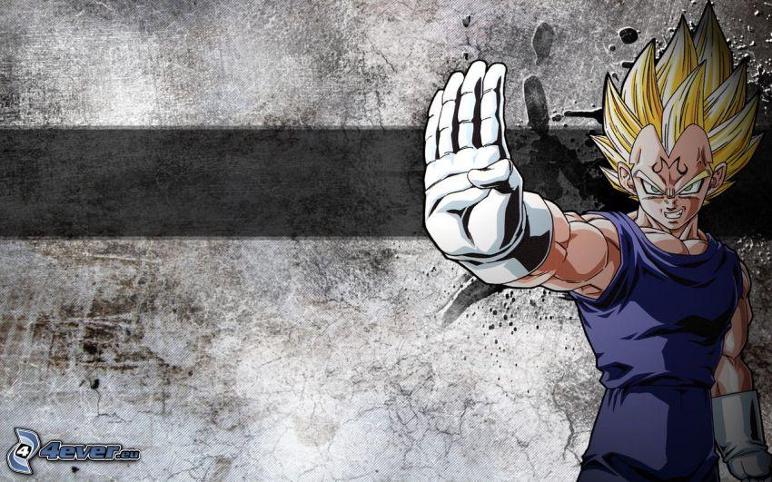 Vegeta, Anime Kerl