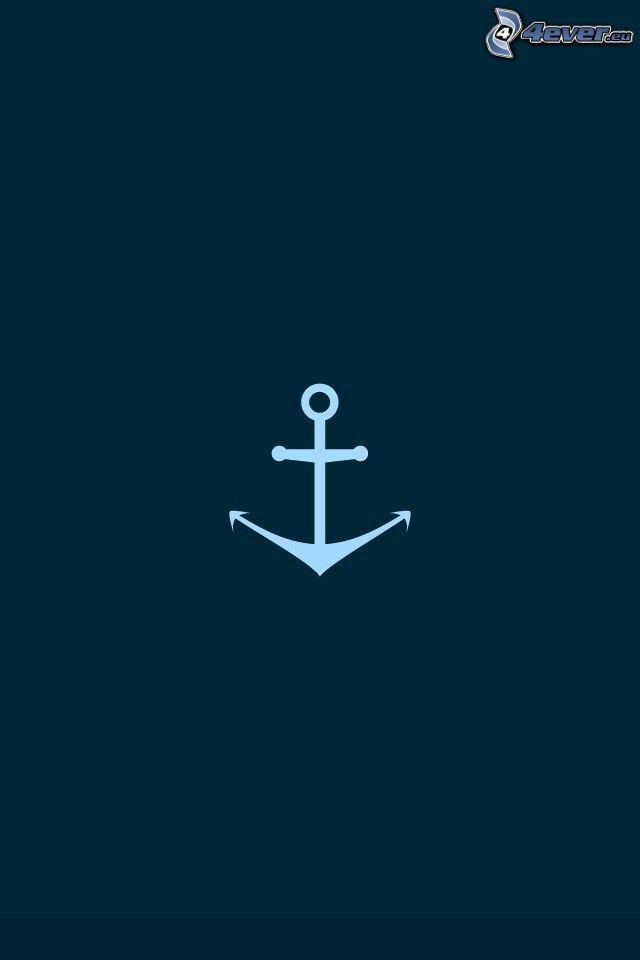 Anker, blauer Hintergrund