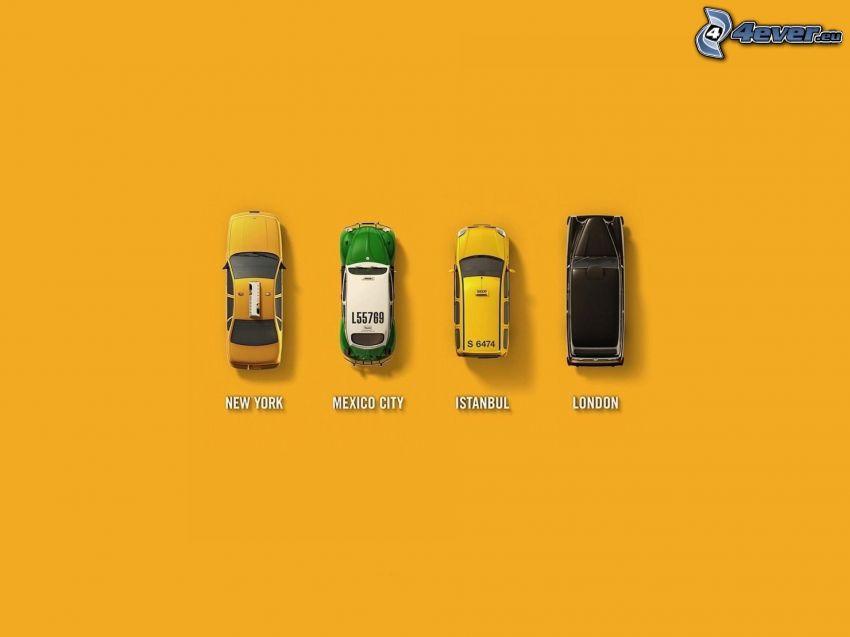 Autos, taxi