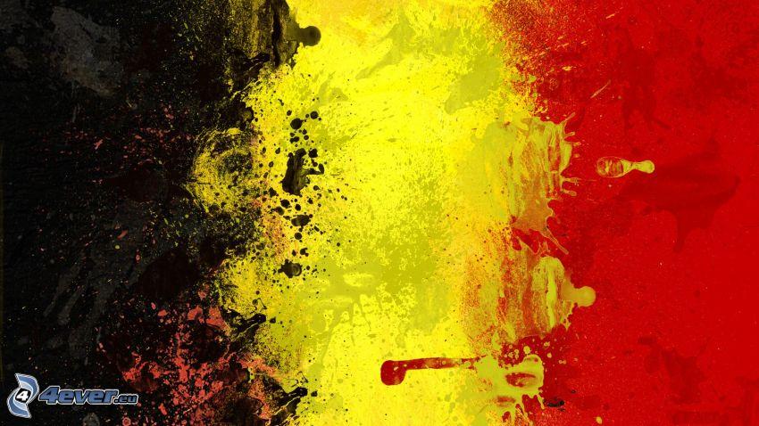 belgische Flagge, Kleckse