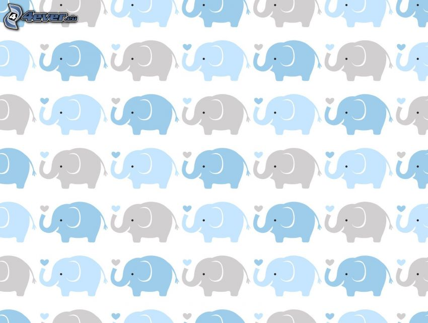 Cartoon-Elefanten