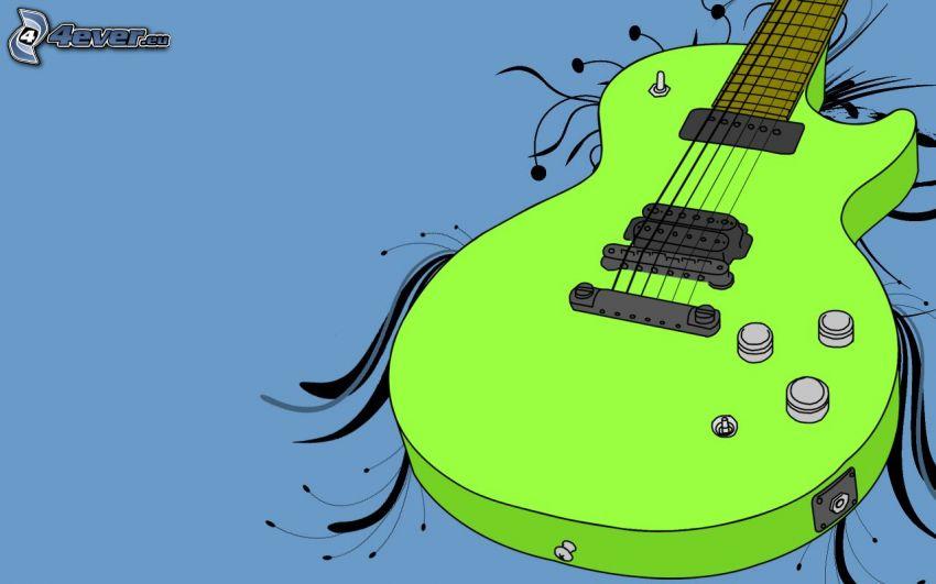 cartoon Gitarre, e-gitarre