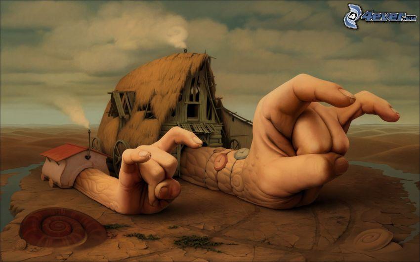 Cartoon-Haus, Hände