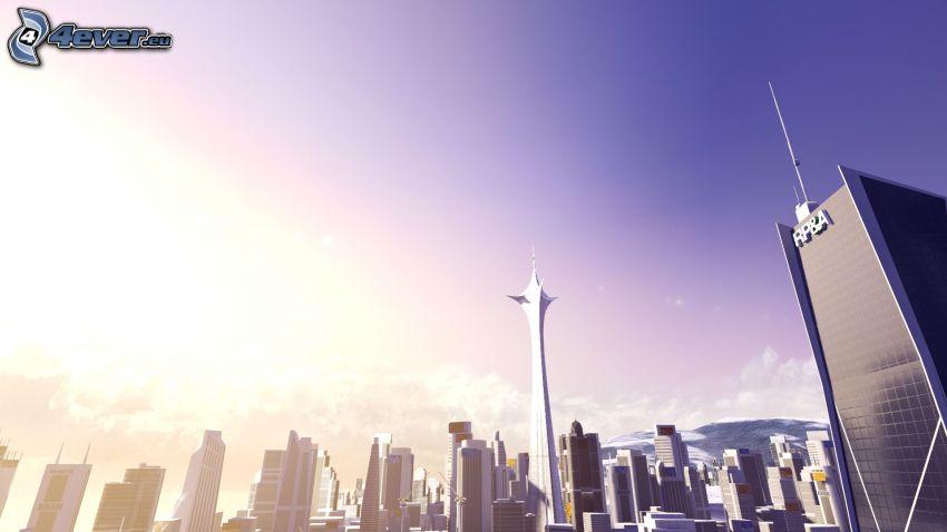 City, Wolkenkratzer