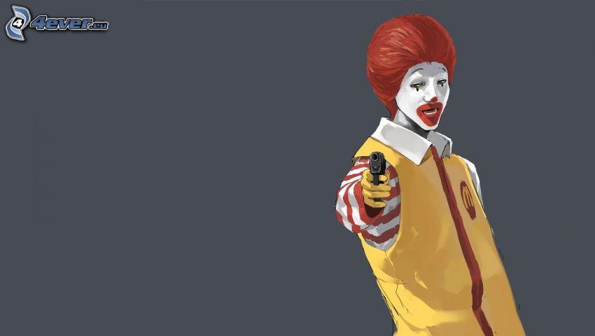 Clown, Pistole