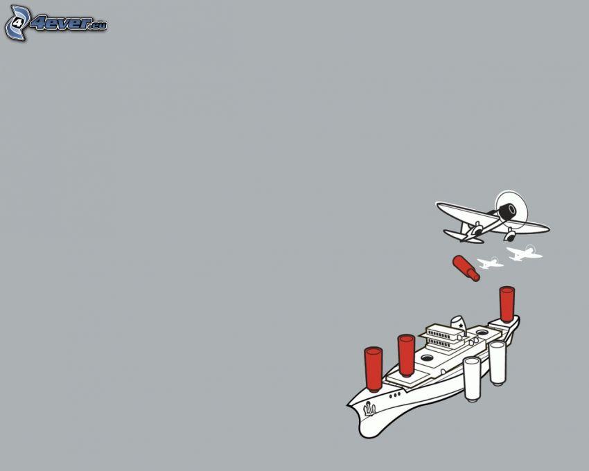 Dampfer, Flugzeug