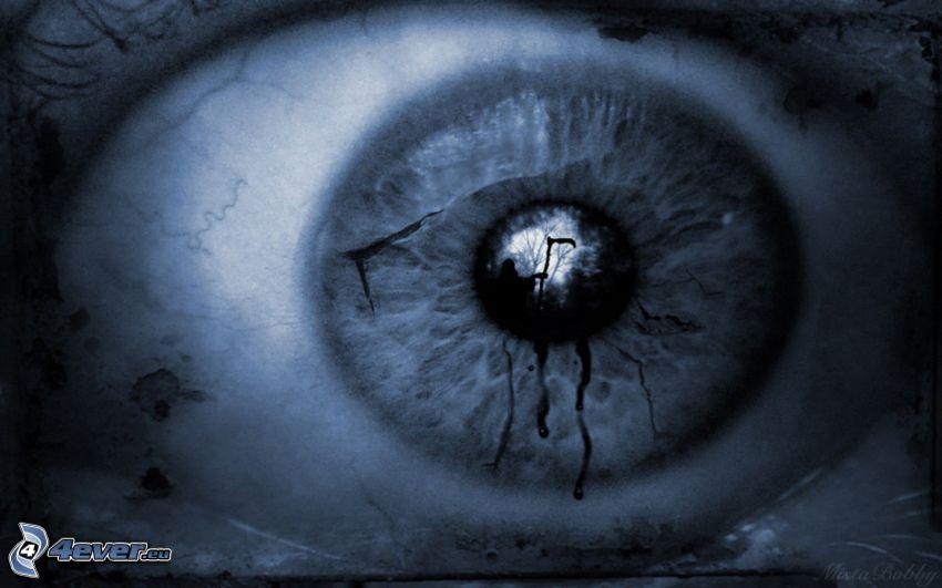 Auge, Angst, Sensenmann