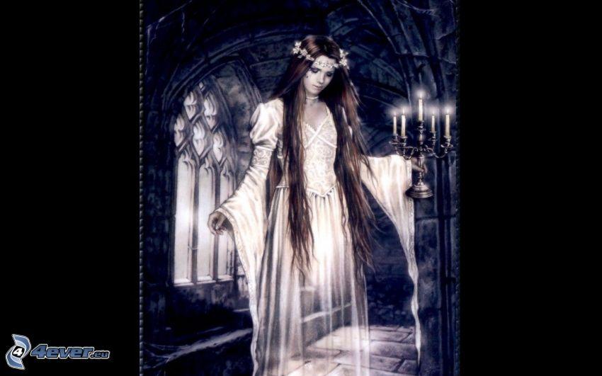 Gespenst, dunkle Frau