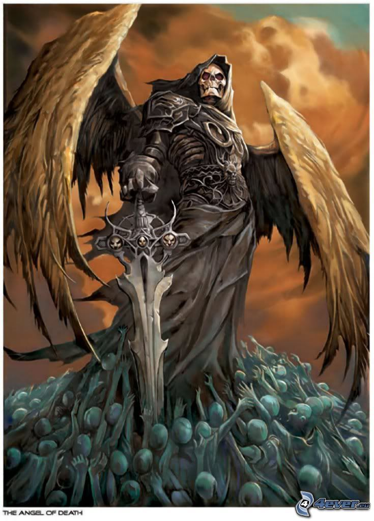 Sensenmann, Schwert, Engel des Todes