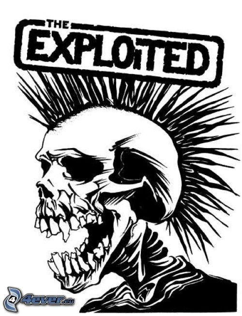 The Exploited, Schädel, punk