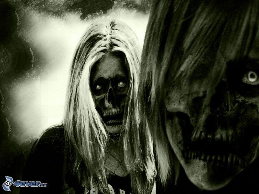 Tod, zombie, Monster, Dämon