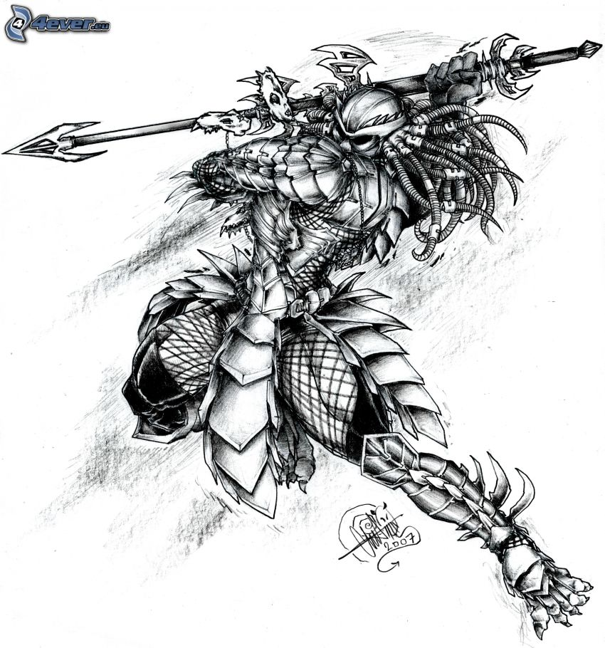 Yautja, dunkler Kämpfer